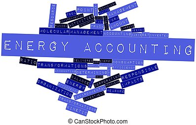 Energy accounting - Abstract word cloud for Energy...