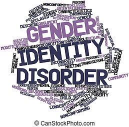 Gender identity disorder - Abstract word cloud for Gender...