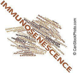 Immunosenescence - Abstract word cloud for Immunosenescence...