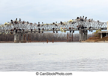 Blanchette Bridge Demolition over Missouri River