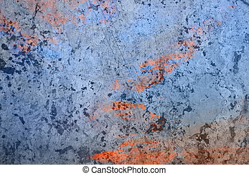 Overlay Texture In Blue and Orange - Marble textured surface...