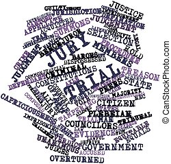 Word cloud for Jury trial - Abstract word cloud for Jury...