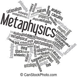 Metaphysics - Abstract word cloud for Metaphysics with...