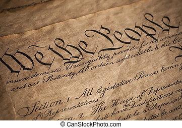 Declaration Of Independence - Close Up of Declaration of...