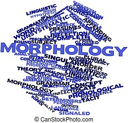 Morphology - Abstract word cloud for Morphology with related...