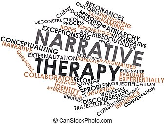 Narrative therapy - Abstract word cloud for Narrative...