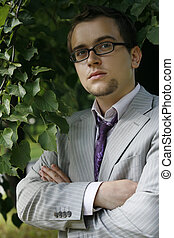 Young serious businessman - Portrait of the young serious...