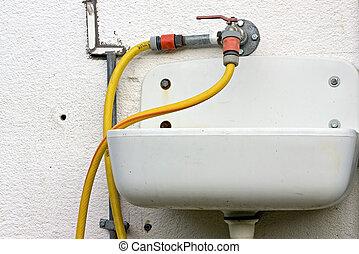 Old Washbasin - Closeup photo os an old washbasin in a farm