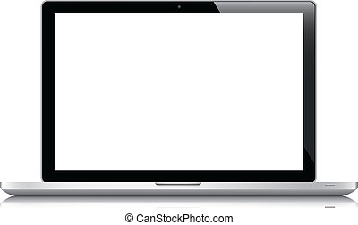 Laptop isolated on white vector eps10