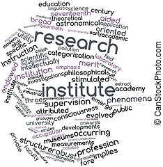 Research institute - Abstract word cloud for Research...