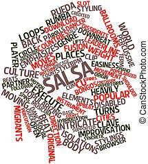 Word cloud for Salsa - Abstract word cloud for Salsa with...