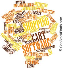 Word cloud for Shopping cart software - Abstract word cloud...