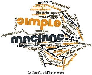 Simple machine - Abstract word cloud for Simple machine with...