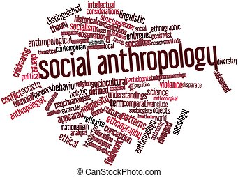 Social anthropology - Abstract word cloud for Social...