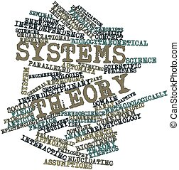 Systems theory - Abstract word cloud for Systems theory with...
