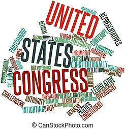 United States Congress - Abstract word cloud for United...