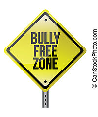 bully free zone illustration design over a white background