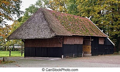 Traditional dutch barn in the east of the Netherlands