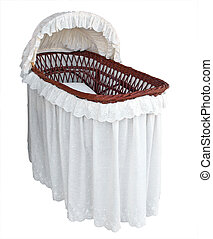 Covered Cane Bassinet