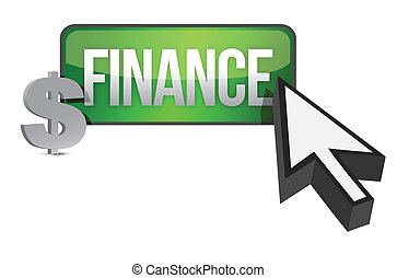 finance selection concept illustration design over white