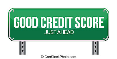 good credit scores just ahead illustration design over white
