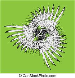 Spiral contemporary white ornament colorful