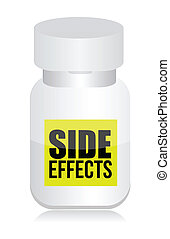 pills with side effects sign