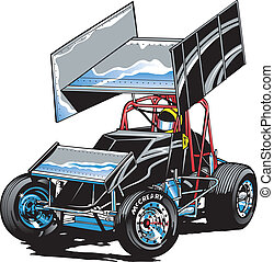 Race Car Midget - Race Car - Winged Sprint