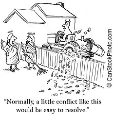 "Going to have trouble with solving conflict - ""Normally a..."