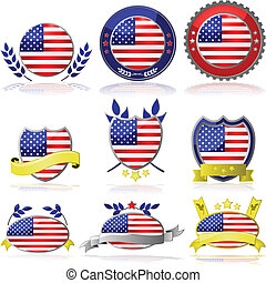 USA badges