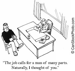 "The job calls for a man of many parts - ""The job calls for a..."