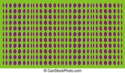 Optical illusions - billowy optical illusion as the wave
