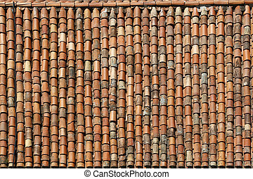 Background or texture symmetric with roof rectangle and old