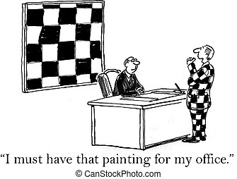 Checkered painting is a must have from Jack - I must have...