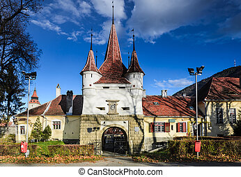 Brasov Fortress, Catherine Gate, Romania - Catherines Gate...