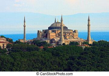 Hagia Sophia before Marmara sea, Istanbul, Turkey