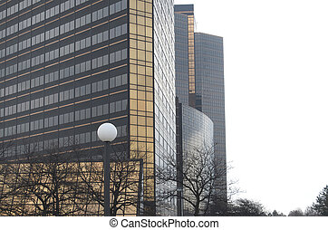 Corporate Buildings - Corporate buildings stacked on the...
