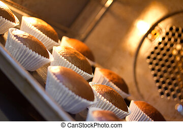 sweet tartlets in the oven