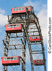 Riesenrad im Prater, Wien - Giant Ferris Wheel in the Vienna...