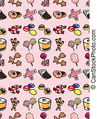 seamless candy pattern,cartoon vector illustration