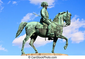 Statue of archduke Albrecht of Austria, Vienna - Statue of...