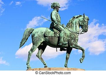Statue of archduke Albrecht of Austria, Vienna - Statue of...