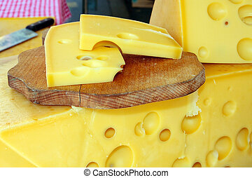 Sliced mountain cheese