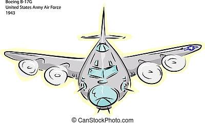 B-17G, bombowiec, samolot