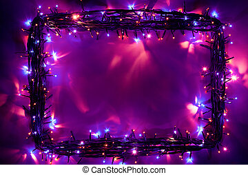 christmas lights frame backdrop