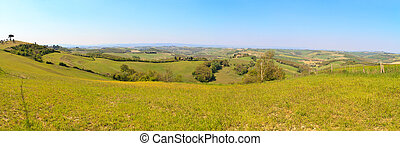 Tuscan hill panorama high res, Tuscany, Italy