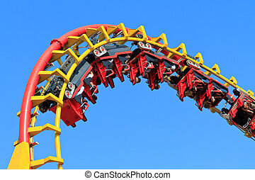 Rollercoaser Ride (against blue sky)