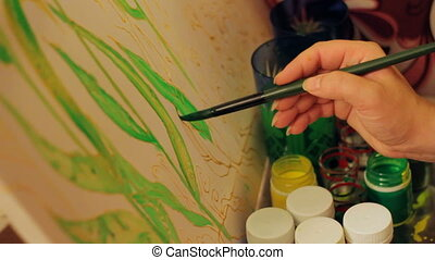 Special paint used for batik painting