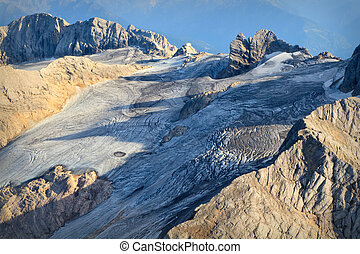 Luftaufnahme Dachstein Gletscher, Salzkammergut,...