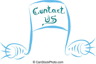 contact us musical note abstract illustration